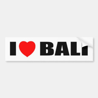 I Love Bali Indonesia Bumper Stickers