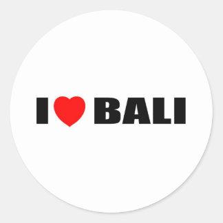 I Love Bali, Indonesia Classic Round Sticker
