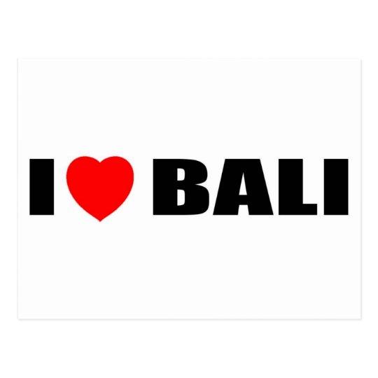 I Love Bali, Indonesia Postcard