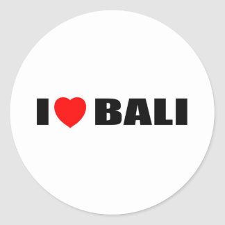 I Love Bali Indonesia Sticker