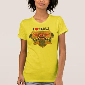 I Love Bali with Barong Art T-shirts