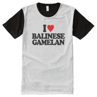 I LOVE BALINESE GAMELAN All-Over-Print T-Shirt