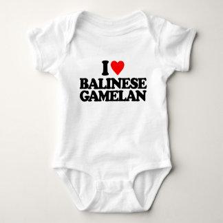 I LOVE BALINESE GAMELAN BABY BODYSUIT