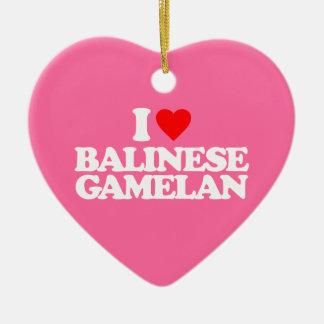 I LOVE BALINESE GAMELAN CERAMIC ORNAMENT