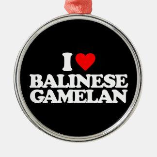 I LOVE BALINESE GAMELAN METAL ORNAMENT