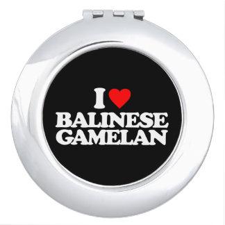 I LOVE BALINESE GAMELAN VANITY MIRROR
