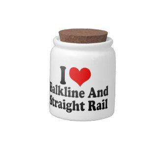 I love Balkline And Straight Rail Candy Jars