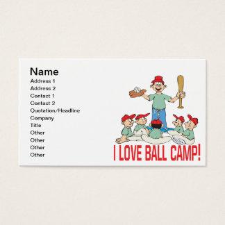 I Love Ball Camp Business Card