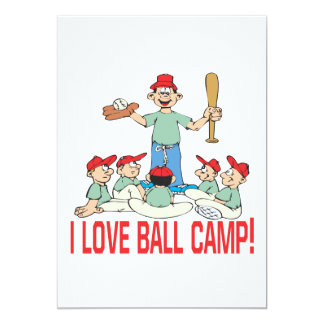 I Love Ball Camp Card