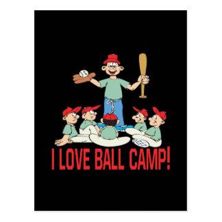 I Love Ball Camp Postcard