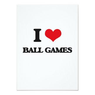 I Love Ball Games 5x7 Paper Invitation Card
