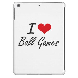 I Love Ball Games Artistic Design iPad Air Covers