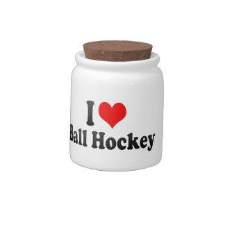I love Ball Hockey Candy Jars