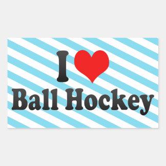I love Ball Hockey Sticker
