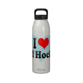 I love Ball Hockey Drinking Bottles