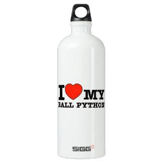 I Love ball python Water Bottle