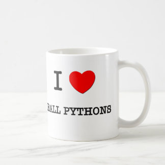 I Love BALL PYTHONS Classic White Coffee Mug