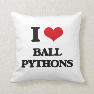 I love Ball Pythons Throw Pillow