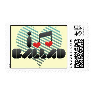 I Love Ballad Postage Stamps