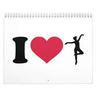 I love Ballerina dancing Wall Calendars