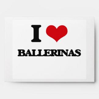 I Love Ballerinas Envelopes