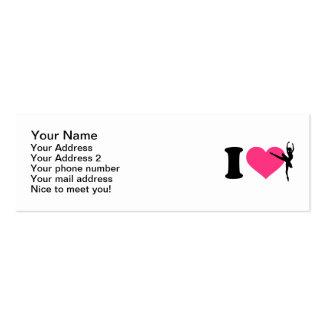 I love ballet ballerina business card
