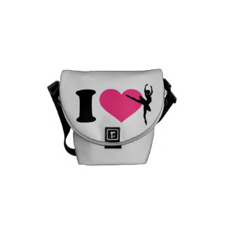 I love ballet ballerina messenger bag