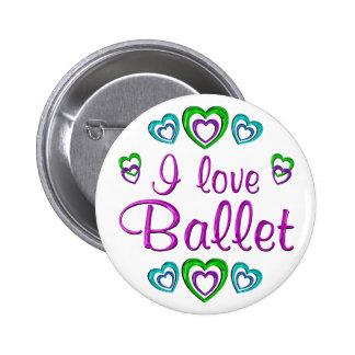 I Love Ballet Pinback Button