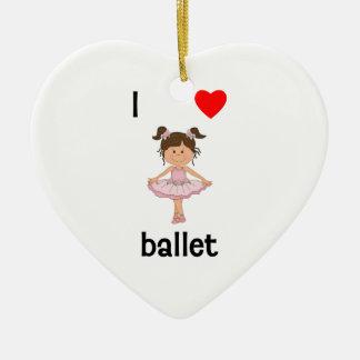 I love ballet ceramic ornament