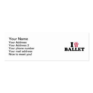 I love Ballet feet Business Card Template