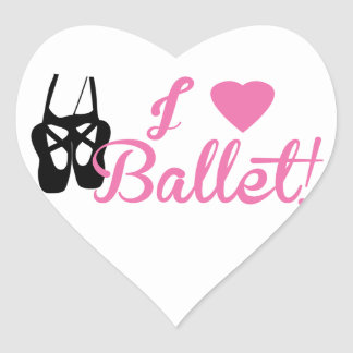 I Love Ballet Heart Sticker