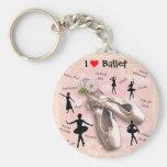 I love Ballet Key Chain