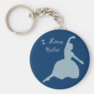 I Love Ballet Keychain