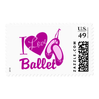 I Love Ballet Postage Stamp