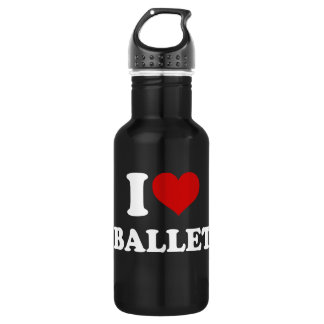I Love Ballet Stainless Steel Water Bottle
