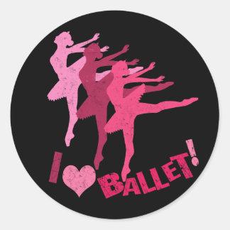 I love Ballet Classic Round Sticker