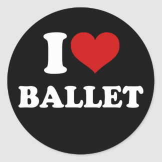 I Love Ballet Stickers