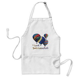 I Love Ballooning Adult Apron