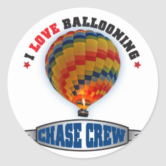 I Love Ballooning Chase Crew Classic Round Sticker