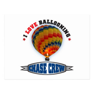 I Love Ballooning Chase Crew Postcard