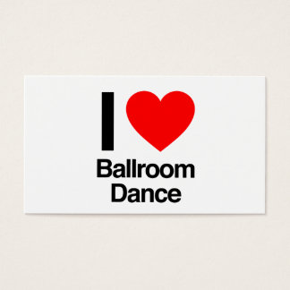 i love ballroom dance business card
