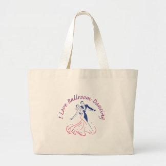 I Love Ballroom Dancing Large Tote Bag
