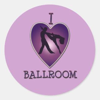 I LOVE BALLROOM STICKER