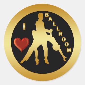 I LOVE BALLROOM ROUND STICKER