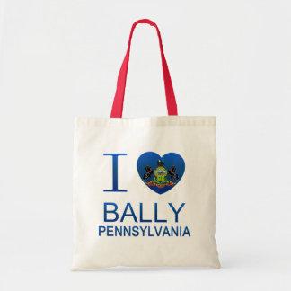 I Love Bally, PA Tote Bags
