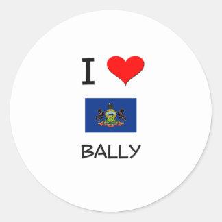 I Love Bally Pennsylvania Stickers