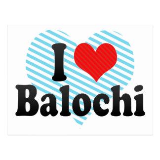 I Love Balochi Postcard
