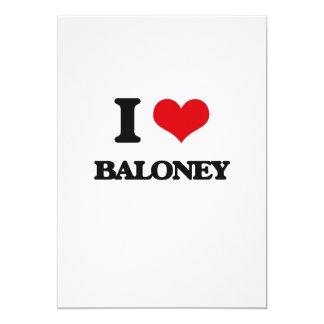 I Love Baloney 5x7 Paper Invitation Card