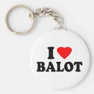 I Love Balot Basic Round Button Keychain