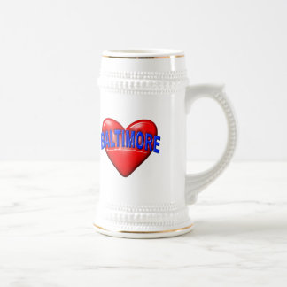 I love Baltimore Beer Stein